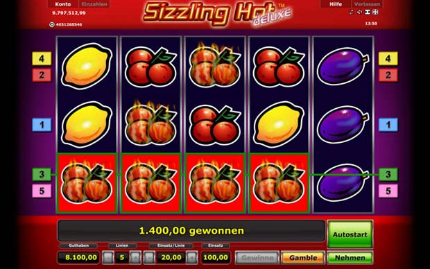 online casino spielen silzzing hot